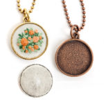 Jewelry Kits for Embroidery - Large Circle Bezels