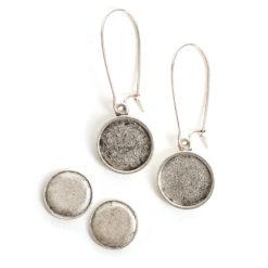 Kit Earring Mini CircleAntique Silver