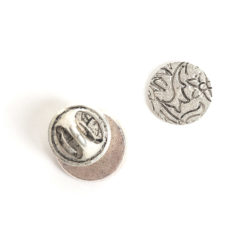 Kit Lapel Pin Mini CircleAntique Silver