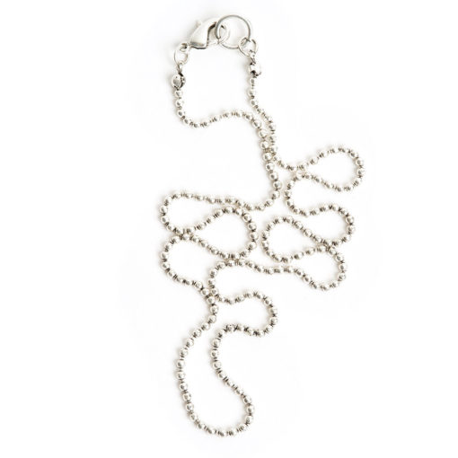 Kit Necklace Faceted Bead ChainAntique Silver