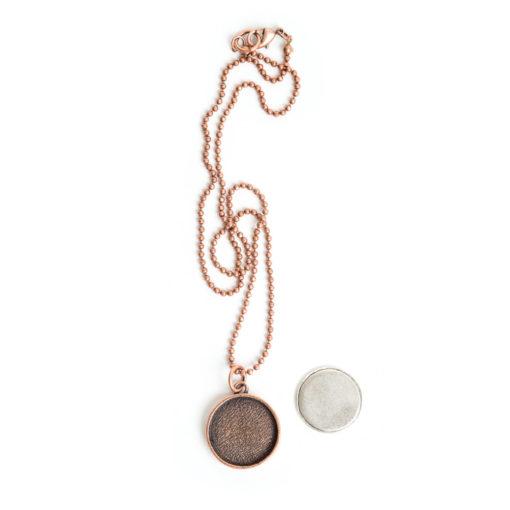 Kit Necklace Large CircleAntique Copper