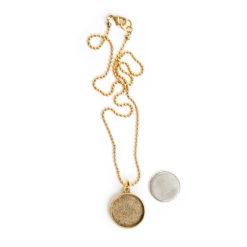 Kit Necklace Large CircleAntique Gold