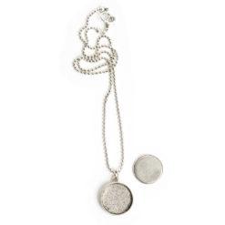 Kit Necklace Large CircleAntique Silver
