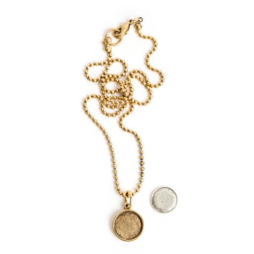 Kit Necklace Mini Circle<br>Antique Gold 1