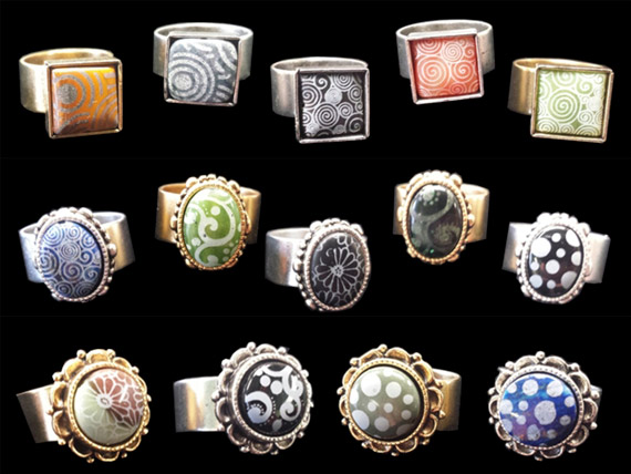Lillypilly Nunn Design Cabochon Rings