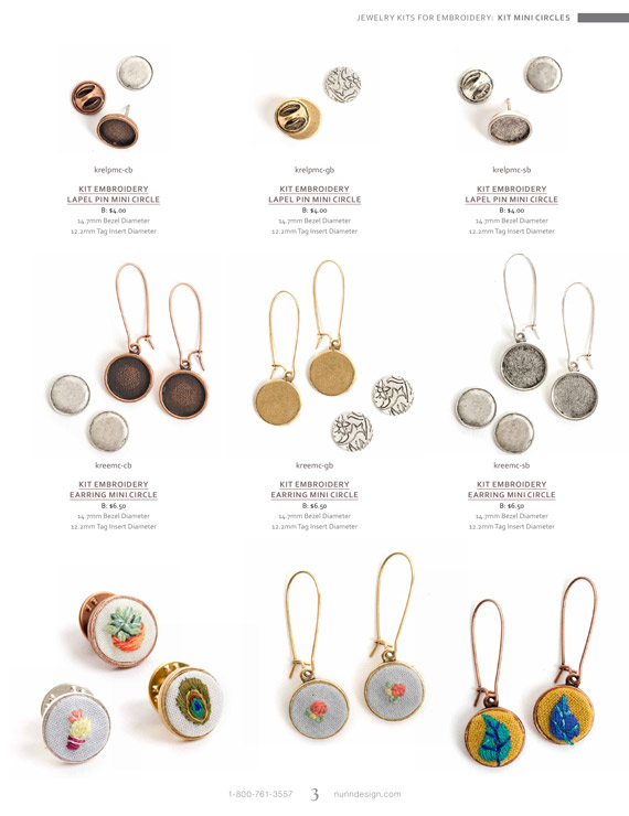 Jewelry Kits for Miniature Embroidery