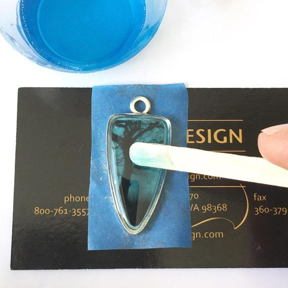Colorized Resin on Nunn Design Tree Transfer Sheet