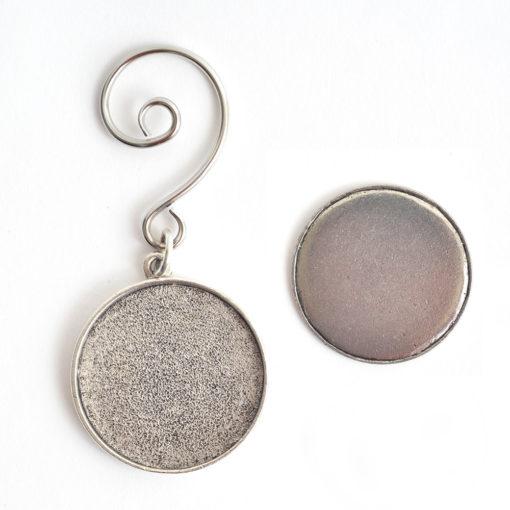 Kit Grande Circle Ornament 1 packAntique Silver