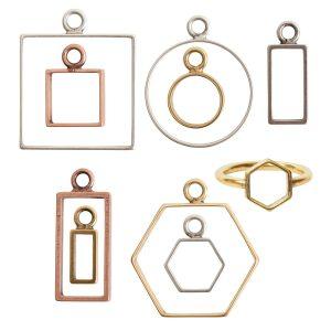 Open Frames Brass
