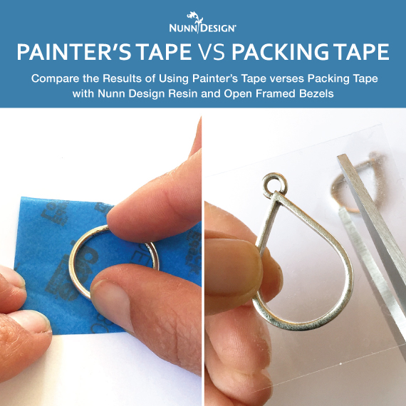 Painter's Tape vs Packing Tape for Open Frame Resin-Filled