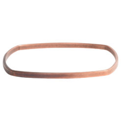 Bangle Bracelet Square Flat LargeAntique Copper