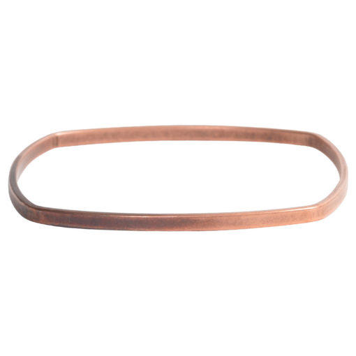 Bangle Bracelet Square Flat LargeAntique Copper