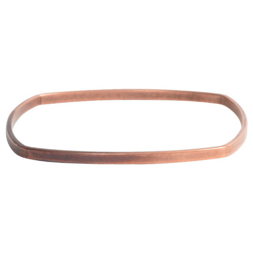 Bangle Bracelet Square Flat Large<br>Antique Copper 2