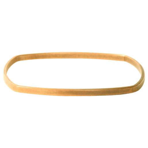 Bangle Bracelet Square Flat Large<br>Antique Gold 2