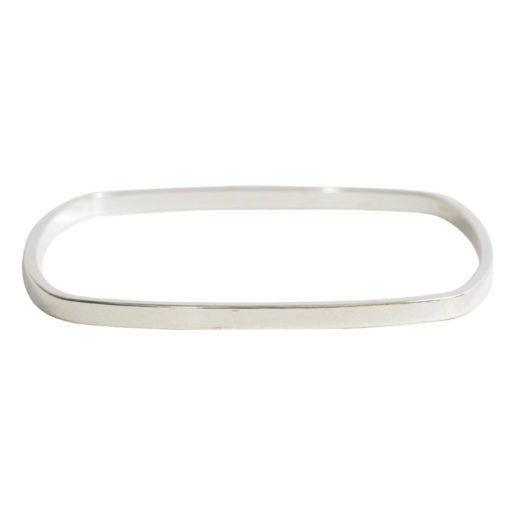 Bangle Bracelet Square Flat Large<br>Sterling Silver Plate 2