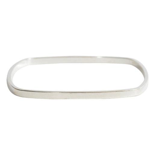 Bangle Bracelet Square Flat Large<br>Sterling Silver Plate 2
