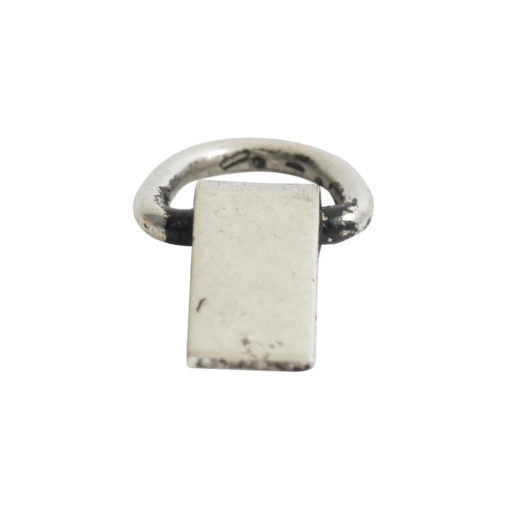 Bail Hinged Loop 6x4mmAntique Silver