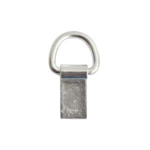 Bail Hinged Loop 6x4mm<br>Sterling Silver Plate