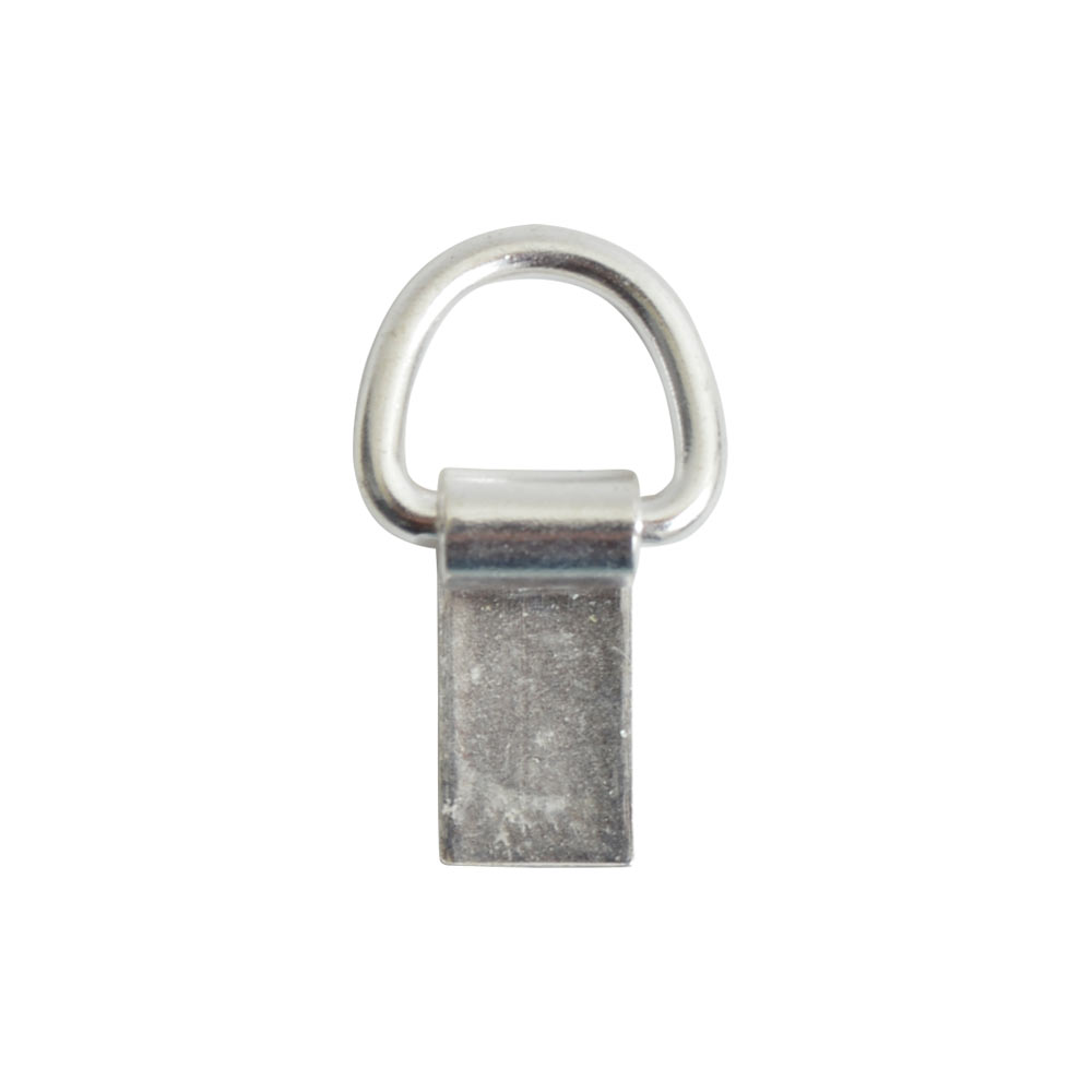 Bail Hinged Loop 6x4mmSterling Silver Plate