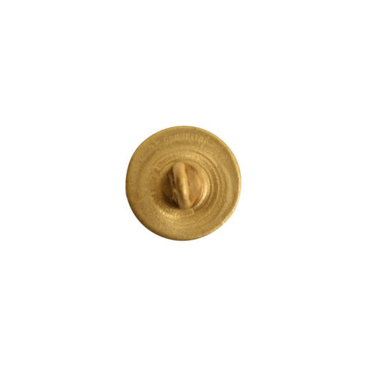 Button Shank Circle 8mm<br>Antique Gold