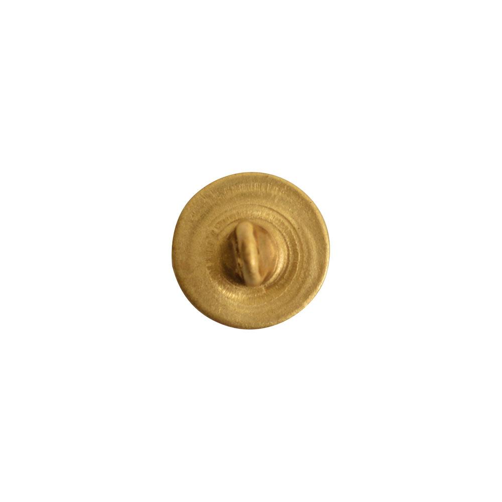 Button Shank Circle 8mmAntique Gold