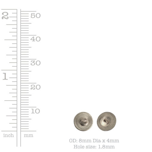 Button Shank Circle 8mmAntique Gold