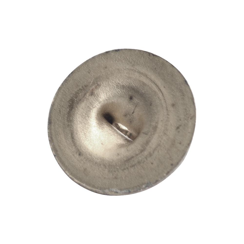 Button Shank Circle 8mmAntique Silver
