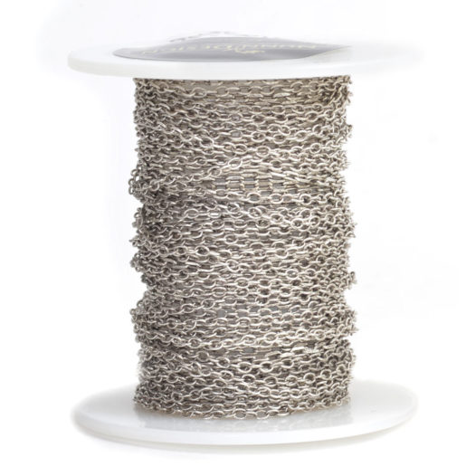 Delicate Link Cable Chain<br>Antique Silver 1