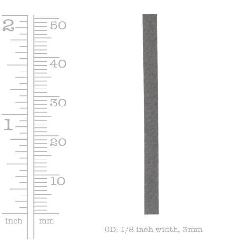 Deerskin Lace 3mm Gray