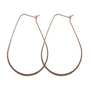 Ear Wire Hoop Oval LargeAntique Copper Nickel Free