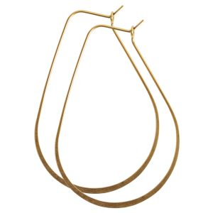Ear Wire Hoop Oval LargeAntique Gold Nickel Free