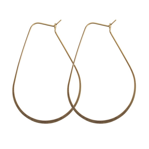 Ear Wire Hoop Oval LargeAntique Gold Nickel Free