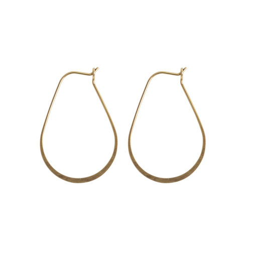 Ear Wire Hoop Oval SmallAntique Gold Nickel Free