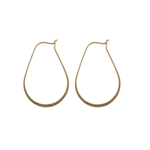 Ear Wire Hoop Oval Small<br>Antique Gold Nickel Free 1