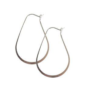 Ear Wire Hoop Oval SmallSterling Silver Plate Nickel Free