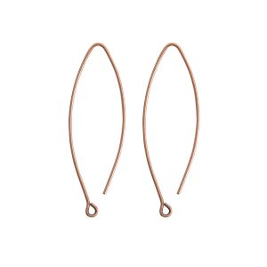 Ear Wire Open Oval SmallAntique Copper Nickel Free