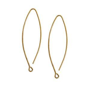 Ear Wire Open Oval SmallAntique Gold Nickel Free