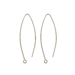 Ear Wire Open Oval SmallSterling Silver Plate Nickel Free