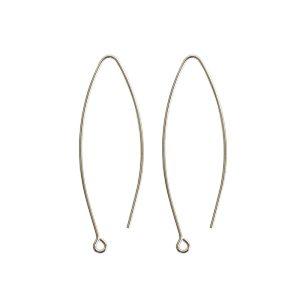 Ear Wire Open Oval SmallSterling Silver Plate Nickel Free
