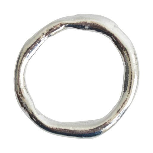 Hoop Organic Grande<br>Sterling Silver Plate 1