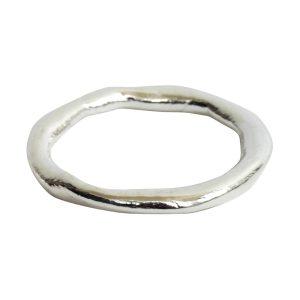 Hoop Organic GrandeSterling Silver Plate