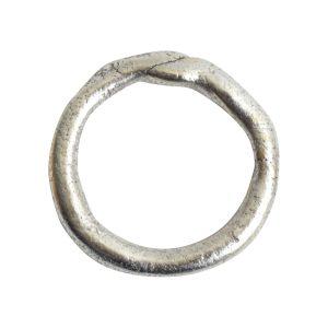 Hoop Organic LargeAntique Silver