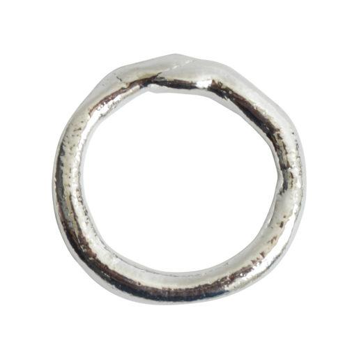 Hoop Organic Large<br>Sterling Silver Plate 1