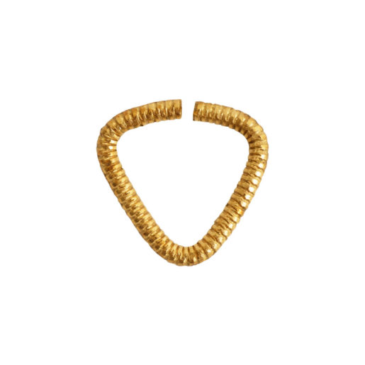 Jumpring 10mm Textured Triangle<br>Antique Gold 1