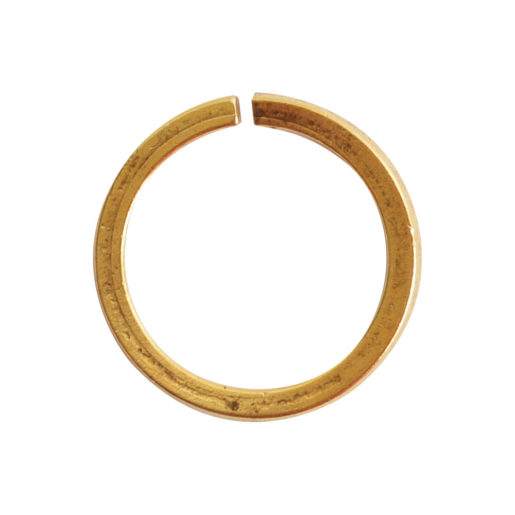 Jumpring 12mm Square Wire Circle<br>Antique Gold 1