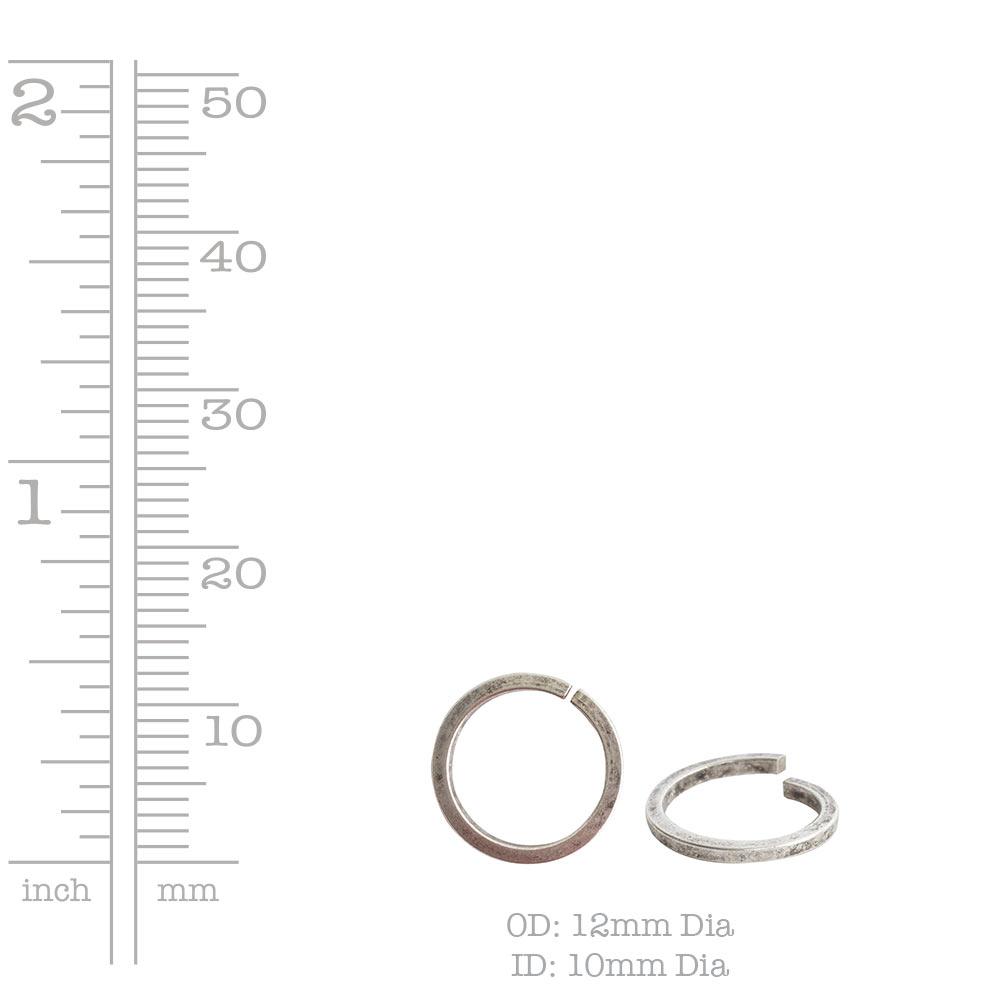 Jumpring 12mm Square Wire CircleAntique Gold