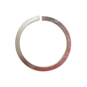 Jumpring 12mm Square Wire CircleSterling Silver Plate