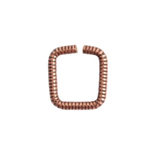 Jumpring 8mm Textured Square<br>Antique Copper 1