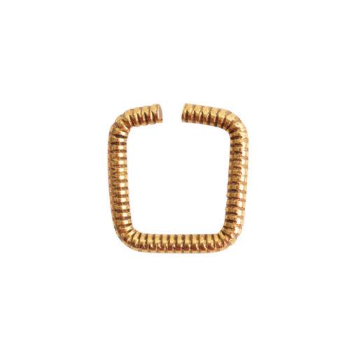 Jumpring 8mm Textured SquareAntique Gold
