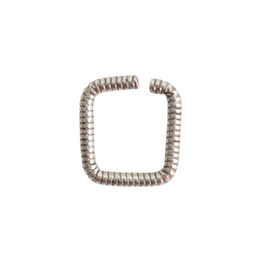 Jumpring 8mm Textured SquareAntique Silver